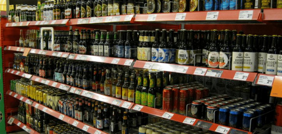 Продажа алкоголя в магазинах