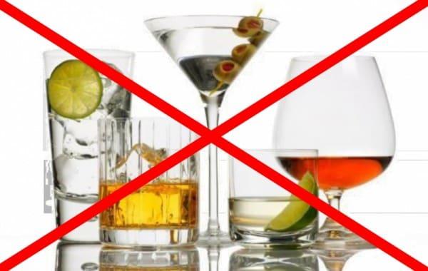 Запрет на алкоголь перед гастроскопией