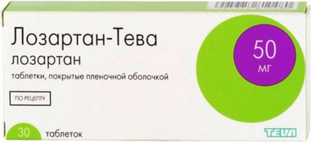 Таблетки Лозартан Тева